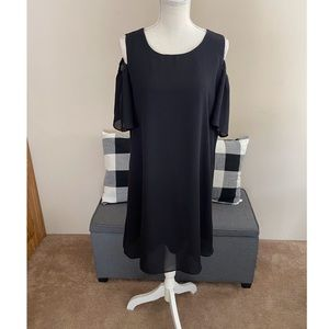 Apt 9 Black Cold Shoulder Dress Size 14